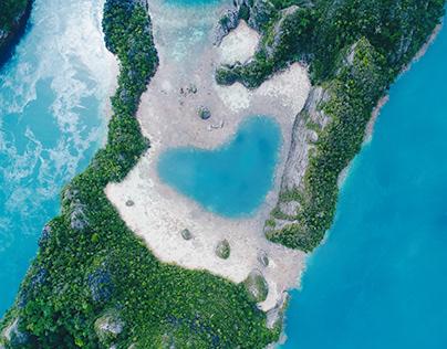 Stock Photo Aerial Landscape Indonesia