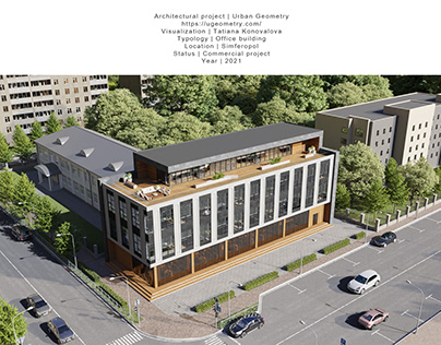 Project of an office building in Simferopol