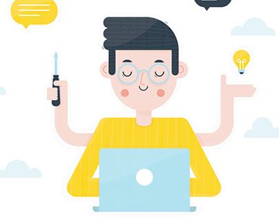 OkGO website illustrations