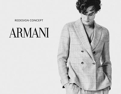ARMANI - website redisign