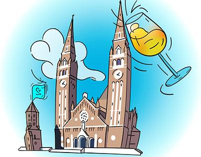 Szeged illustrations - wonders