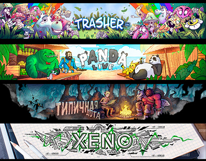 Youtube/ twich headers