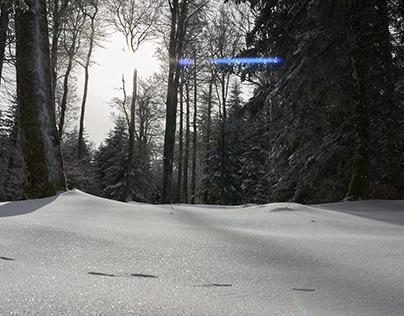 La Loge des Garges sous la neige