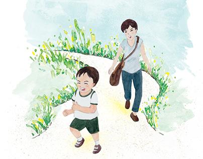 Book Illustrations - Excursion to Hortpark