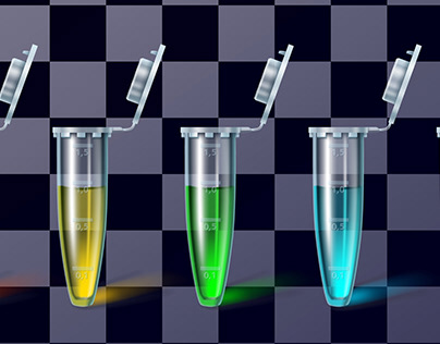Test tubes, realistic transparent vector (2017-2019)