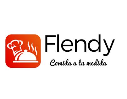 Diseño de página, logo, ilustraciones e-commerce Flendy