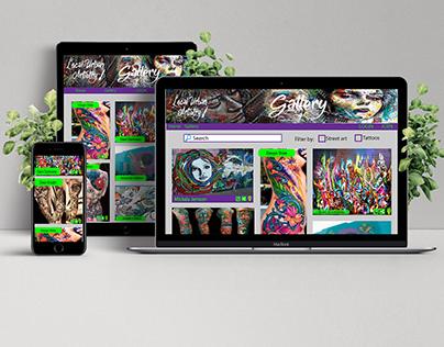 Local Urban Artistry Responsive Web Design