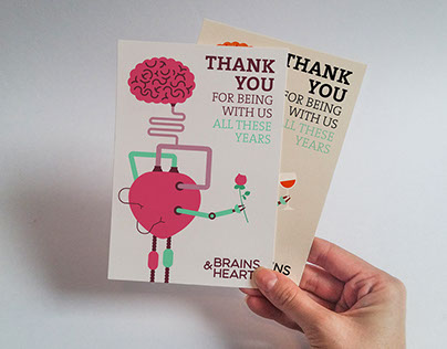 Brains and Hearts Invitation