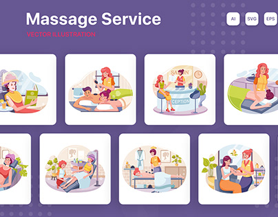 M202_Massage Service Illustrations
