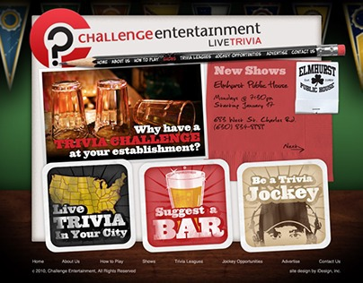 Challenge Entertainment Site Design
