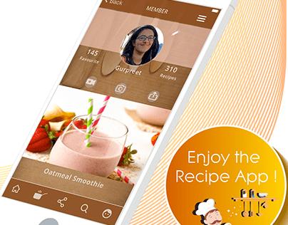 Recipe App - UX/ UI design of Mobile App