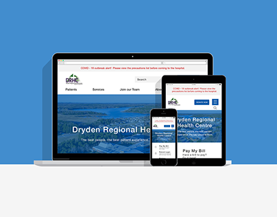 DRHC Website Homepage Redesign Mockup