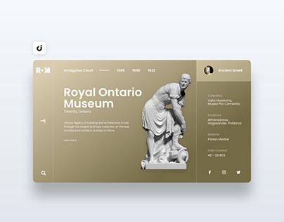 🦖 Museum Web Design