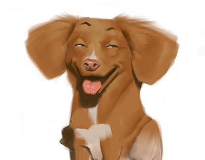 Dog caricatures 04
