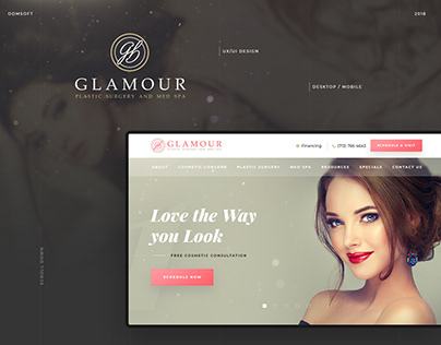 Glamour Plastic Surgery — Web Design