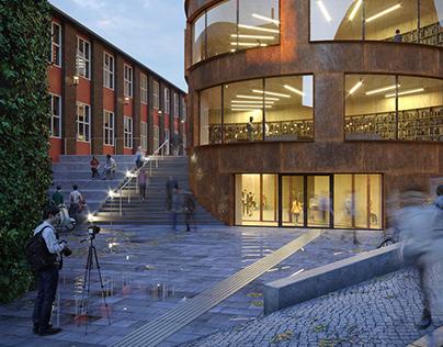 Tham & Videgard´s School of Architecture visualization.