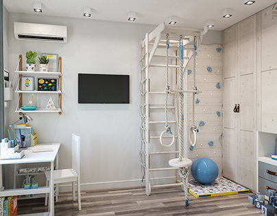 Kidsroom for a young athlete.