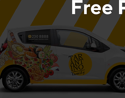 FREE Mockup Delivery car