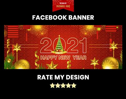 Happy New Year 2021 Facebook Banner Design