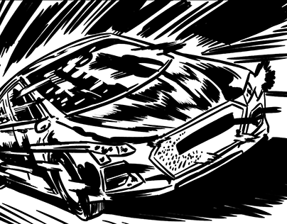 Sample Commercial Storyboard: Audi Ad