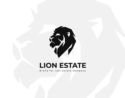 Lion real estate logo design
