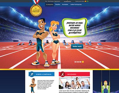 Site da campanha Jogos Premiados Le Club AccorHotels