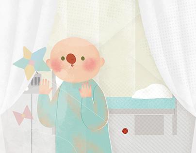 《紅鼻子》(Dr. Red Nose) Children's Book Illustration