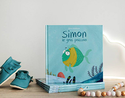 Simon le gros poisson - Illustration