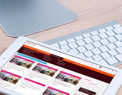 Omniva intranet design for Sharepoint