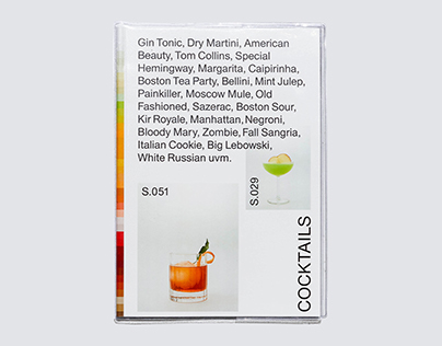 The most minimalistic Cocktailbook