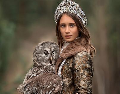 Portrait Photography Princess Owl