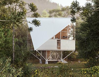 Max Nuñez - Casa en los Arboles, Sierra Nevada. CL