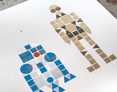 Letterpress Star Wars Prints