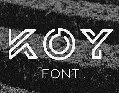 KOY - font