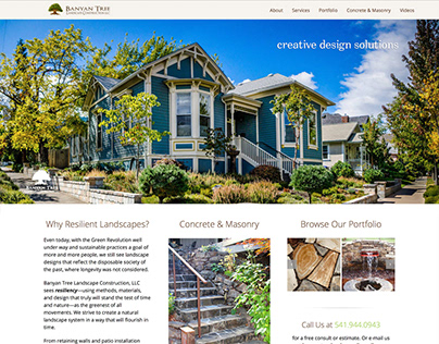 Banyan Tree Landscape Construction Website
