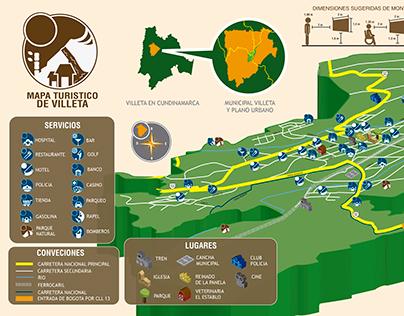 Mapa turistico Villeta