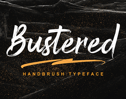 Bustered - Handbrush Typeface