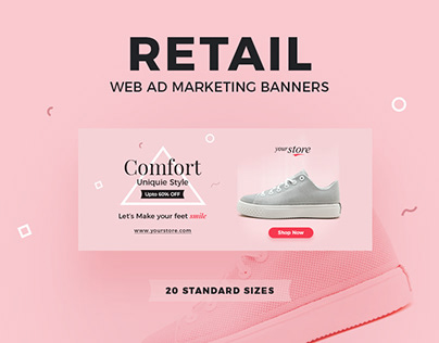 Retail Web Ad Marketing Banners
