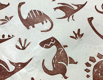 Handmade linoprint