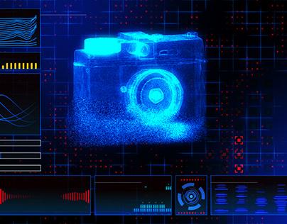 UI HUD Hologram Animation