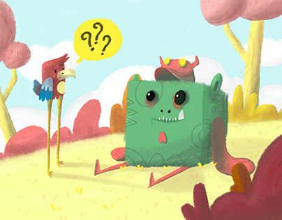 The Bird with Cube Monster