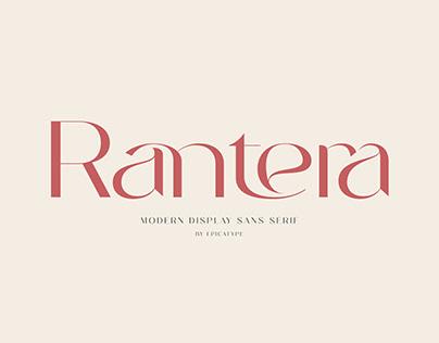 Rantera - Display Ligature Sans Serif