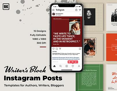 DOWNLOAD - Writer's Block Instagram Posts