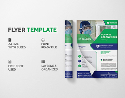 Covid - 19 flyer template