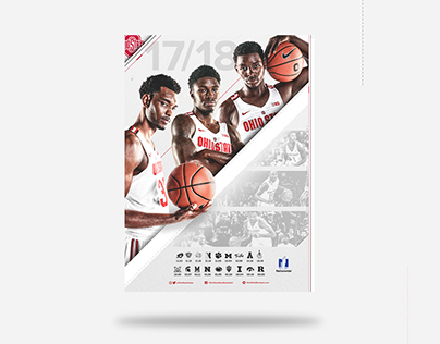 2017/18 Ohio State Basketball Schedule Poster