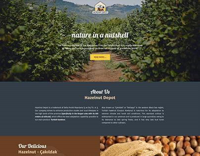 Hazelnut Depot Trademark Corporate Website Project