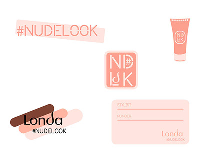 Concept stickers and press wall Londa (#NUDELOOK)