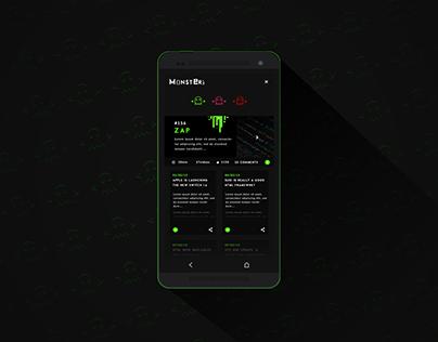 MONSTER'S-TV App concept