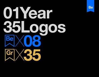 1 Year 35 Logos