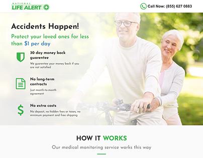 Life Alert Landing Page
